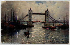 LONDON The Tower Bridge TUCK Oilette 3584 PC UK Viaggiata 1922