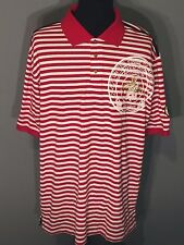 Red Ape Authentic Untied States of America Mens 4XL Red White Striped Polo Shirt