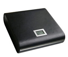 Marquis Leather Humidor - Humidifier - Built-in External Digital Hygrometer