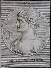CONSTANTIN LE GRAND . PORTRAIT, GRAVE PAR PICART,  GRAVURE ORIGINALE DE 1731