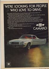 Original 1977 Chevrolet Camaro Magazine Ad - ... People Who Love to Drive