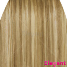 "20"" Clip in Hair Extensions HIGHLIGHTS Blonde Mix #18/613 Straight 8pcs 50g"
