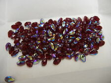 24 swarovski teardrop crystal beads,9x6mm siam AB #5500