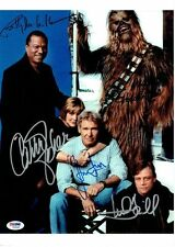 STAR WARS A NEW HOPE RP AUTOGRAPHED CAST 8X10 HAN LEIA LUKE c3Po CARRIE FISHER 2