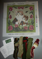 CAT & KITTEN TAPESTRY NEEDLEPOINT KIT - APPLETONS ENGLISH WOOL 16 X16""