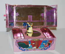 Disney Store Beauty and the Beast Music Box 1991 Pink Dancing Figure