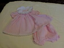 American Girl Bitty Baby Happy Birthday dress with bloomers PINK GINGHAM MINT