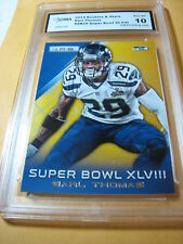 EARL THOMAS SEAHAWKS 2014 ROOKIES & STARS SUPER BOWL XLVIII # SB25 GRADED 10