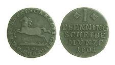 pcc1224_3) Braunschweig Wolfenbüttel 1 Pfenning 1801 MC