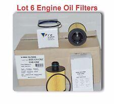 Lot of 6 Engine Oil Filter Fits: CHEVROLET CRUZE 2014-2015 I4 2.0L Diesel