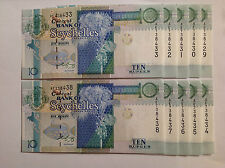 SEYCHELLES 10 RUPEES ND (1998) (2005) P-36 UNC banknote