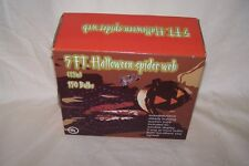 5 Foot Halloween Lighted Spider Web W/6 Inch Spider & Suction Cups 150 Lights