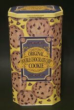 "*Vintage* ORIGINAL DOUBLE CHOCOLATE CHIP COOKIE TIN 10"" tall"