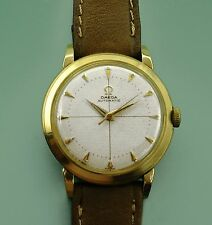 Vintage 1952 Omega 14k Yellow Gold Bumper Automatic Original Dial men's Watch