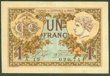 NECESSITE 1 FRANC CHAMBRE DE COMMERCE DE PARIS ETAT : SUP lot 432