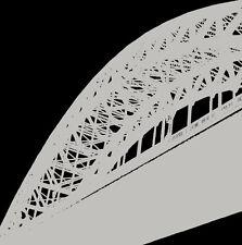 """Puente de Paisaje Urbano Contemporáneo"""" """"Tyne Tinta de impresión (artista firmado & numerado)"""