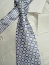 GEORGE LILAC WHITE 3.75 POLYESTER NECK TIE