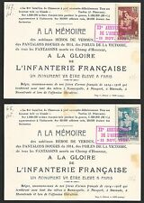 France covers 1938 2 special PCs French Troops