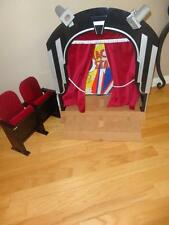 RETIRED PRE-OWNED American Girl Doll Molly's Stage & Screen+Theater Seats-NICE!!