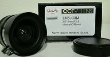 "Cctv Lente Kowa LM5JC3M 2/3"" 5MM Lente de F2.8 manual C-Mount"