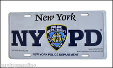 OFFICIAL NYPD METAL LICENCE PLATE NEW YORK CITY POLICE CAR DEPT NUMBER CAP SIGN