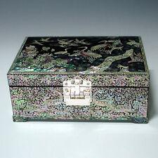 Boîte à Bijoux Coffret Luxe Marqueterie Coiffeuse Elegant Miroir Design Corée