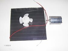 Solar power fan kit  6vdc 100ma   panel-wires-fan motor-blade educational tool