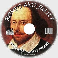 ROMEO & JULIET WILLIAM SHAKESPEARE  MP3 AUDIOBOOK CD CLASSIC TRAGEDY PLAY