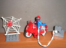 Mini Figure Set Spider-Man MotorCycle Web Uomo Ragno Spider Man Bricks Marvel