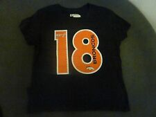 New Women's NFL Team Apparel Peyton Manning 18 Broncos Fitted T-Shirt Size M