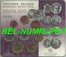 GRIEKENLAND 2008 - BU set Epirus-Peloponnesos met de normale 2 euro!!!