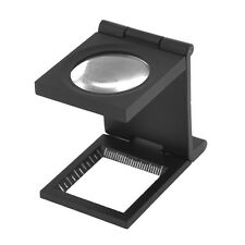 Black Metal Folding Magnifier Magnifying Glass Jewelry Loupe 10X AD