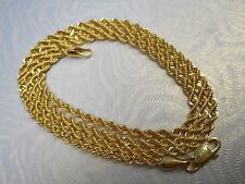 VINTAGE 10K YELLOW GOLD 18.25 INCHES DIAMOND CUT ROPE CHAIN/NECKLACE NOT SCRAP