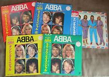 ABBA Lot of 5 Color Records JAPAN-ONLY LP 4 SPECIALS COMPLETE OBI+STICKER FreeSH