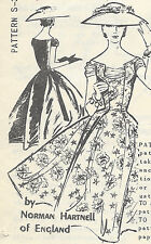 1950s Vintage Sewing Pattern B36 1.3cm DRESS (E1304) By Norman Hartnell