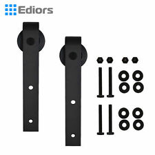 2X Door Hardware Black Steel Barn Door Roller Replacement Bracket Interior