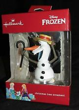 Disney Frozen  Dancing Olaf with Cane  Ornament  by Hallmark  NEW