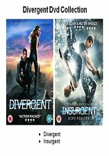 DIVERGENT DVD DOUBLE PACK PART 1 2 INSURGENT Brand and Sealed UK Release