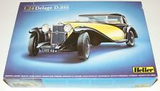 Heller 1/24 scale ~ Delage D8SS Convertible Model Kit ~ New ~ # 80720