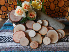 """Mixed.... 50 Piece 2"""" - 3""""  Rustic  Wood Slices for Crafts/weddings."""