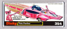 PINK PANTHER CAR toy box art WIDE FRIDGE MAGNET - CLASSIC TOY MEMORIES!