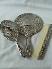 VINTAGE SILVER PLATED  DRESSING TABLE SET