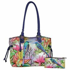 New 2016 Anuschka Large Drawstring Shopper in Spring Passion - PRE-ORDER