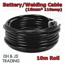 10m Black Battery Welding Cable 16mm 110a - Flexible Marine Boat Automotive Wire