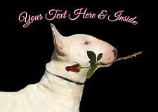 PERSONALISED ENGLISH BULL TERRIER DOG VALENTINE MOTHERS DAY ANY OCCASION CARD