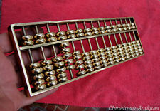 "L 10.2"" Chinese Copper miniature abacus SuanPans 15 Column 105 Count beads #935"