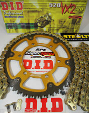TRIUMPH 675 DAYTONA SUPERSPROX DID 520 X-Ring CHAIN AND SPROCKETS *OEM, QA, Fwy