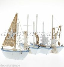 Boat model beach decoration table little ship model nautical ornament random