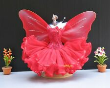 Fairy Angal Red Butterfly Fantasy Handmade Costumes for Barbie Dolls Clothes 3+y