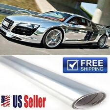 "72""x60"" Silver/Chrome Vinyl Sticker Paint Wrap Protector Film Roof 6ft x 5ft"